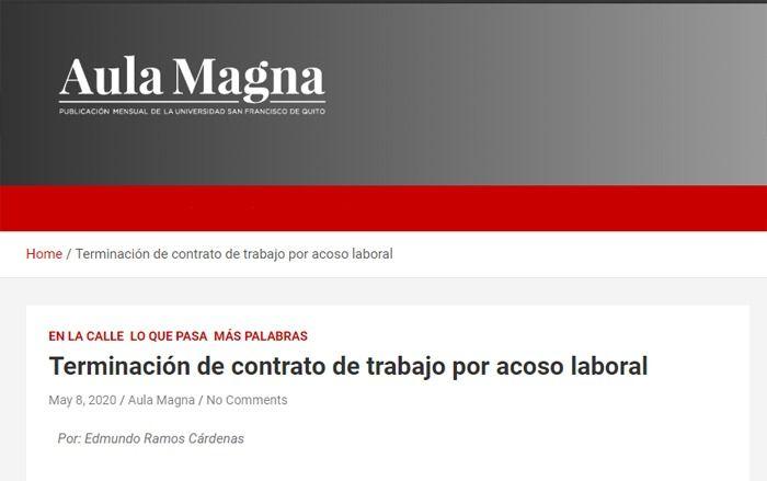 workplace-harassment-aula-magna-edmundo-ramos-lawyers-ecuador