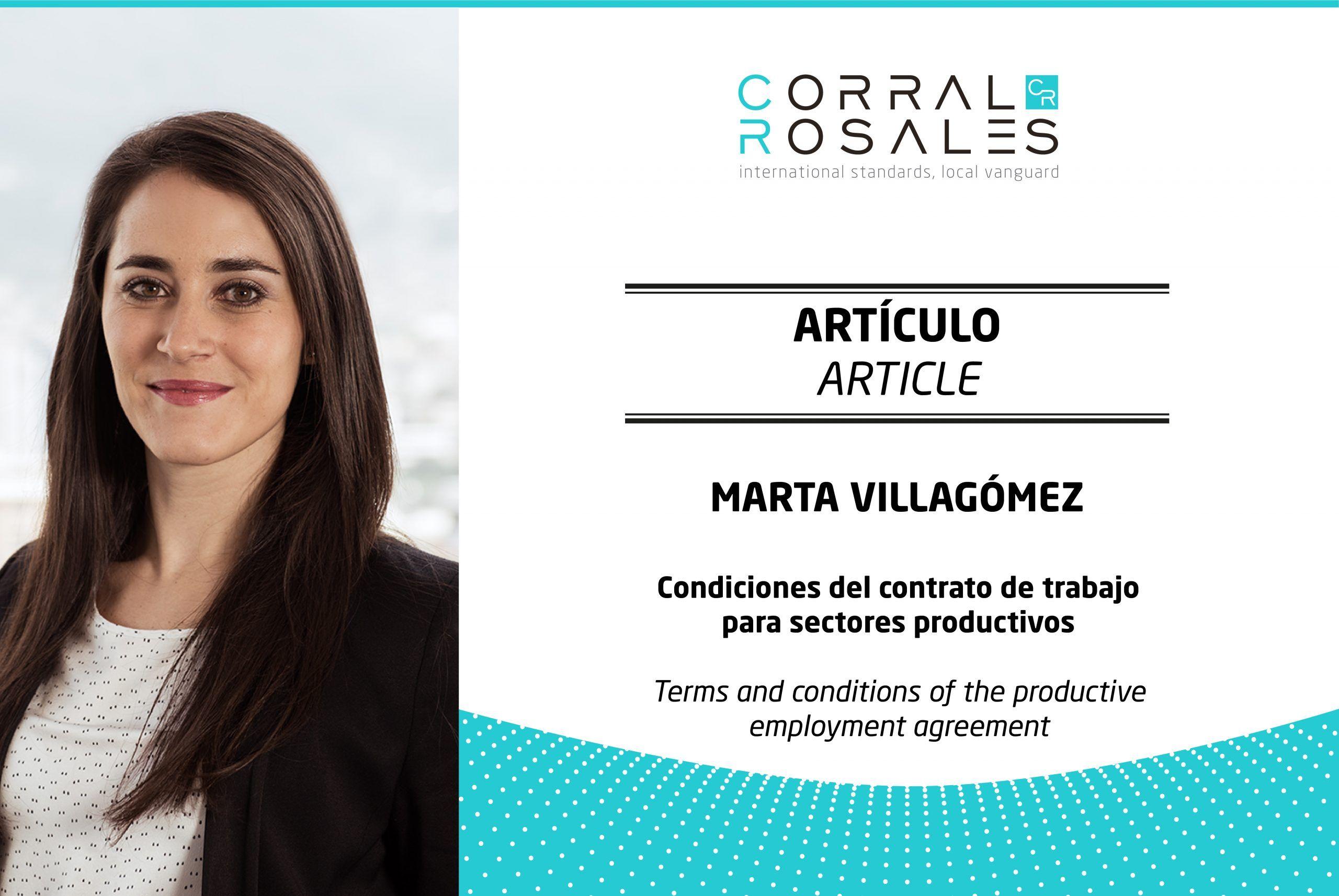 Condiciones del contrato de trabajo para sectores productivos - CorralRosales - Abogados Ecuador