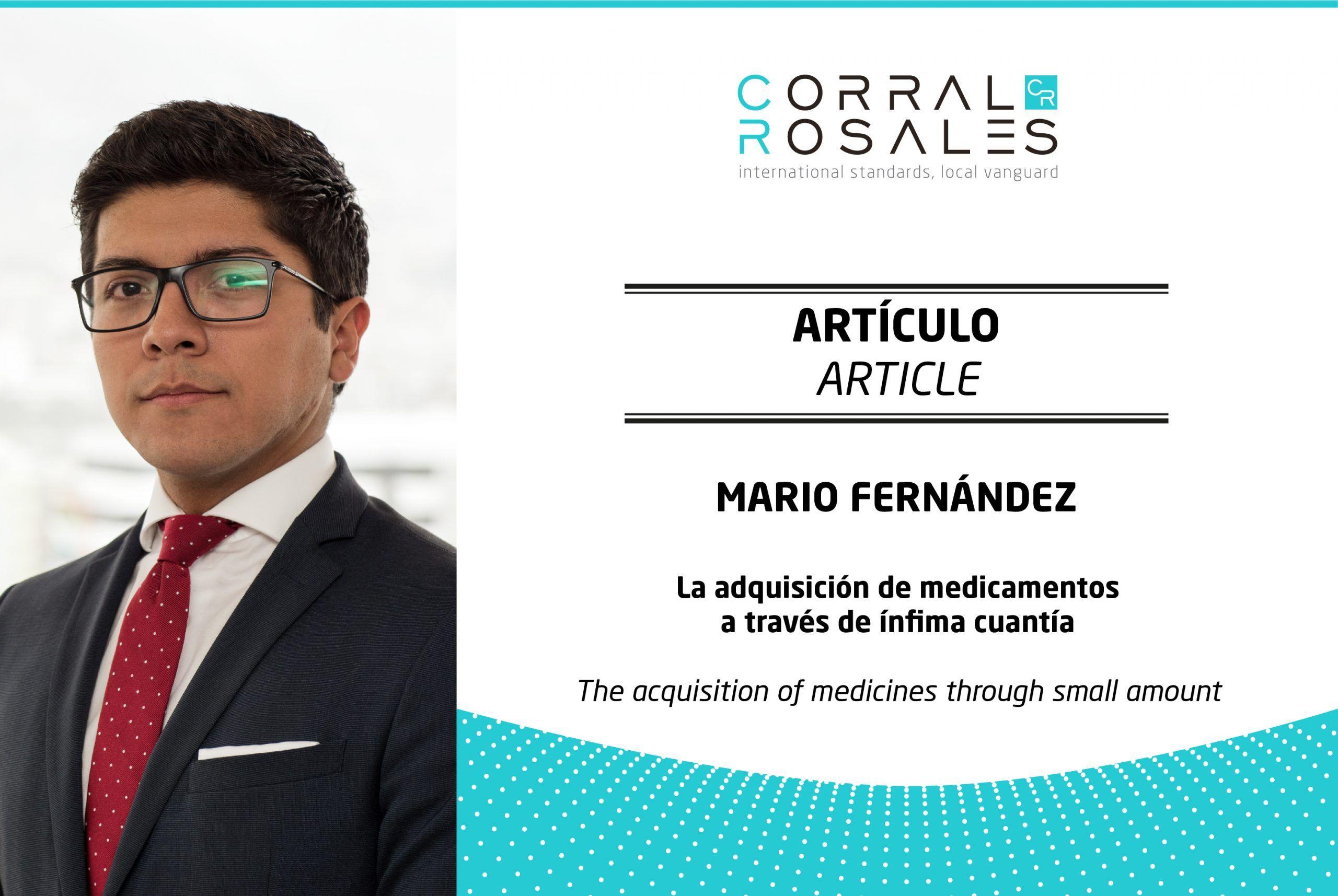 La adquisición de medicamentos a través de ínfima cuantía - CorralRosales - Abogados en Ecuador