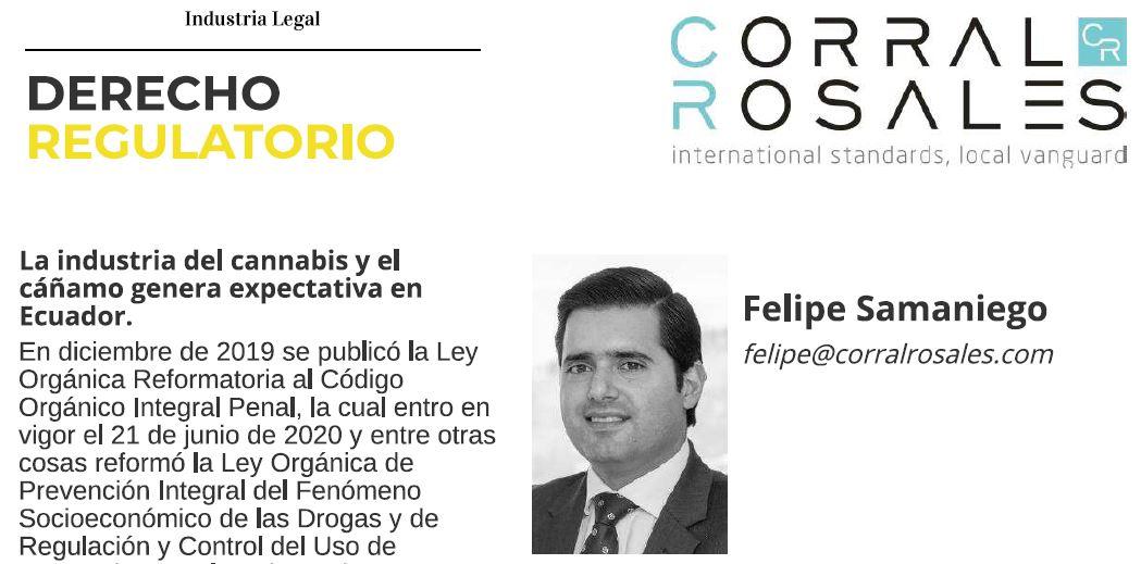 Industria Legal - La industria del cannabis y el cáñamo genera expectativa en Ecuador - CorralRosales - Abogados Ecuador