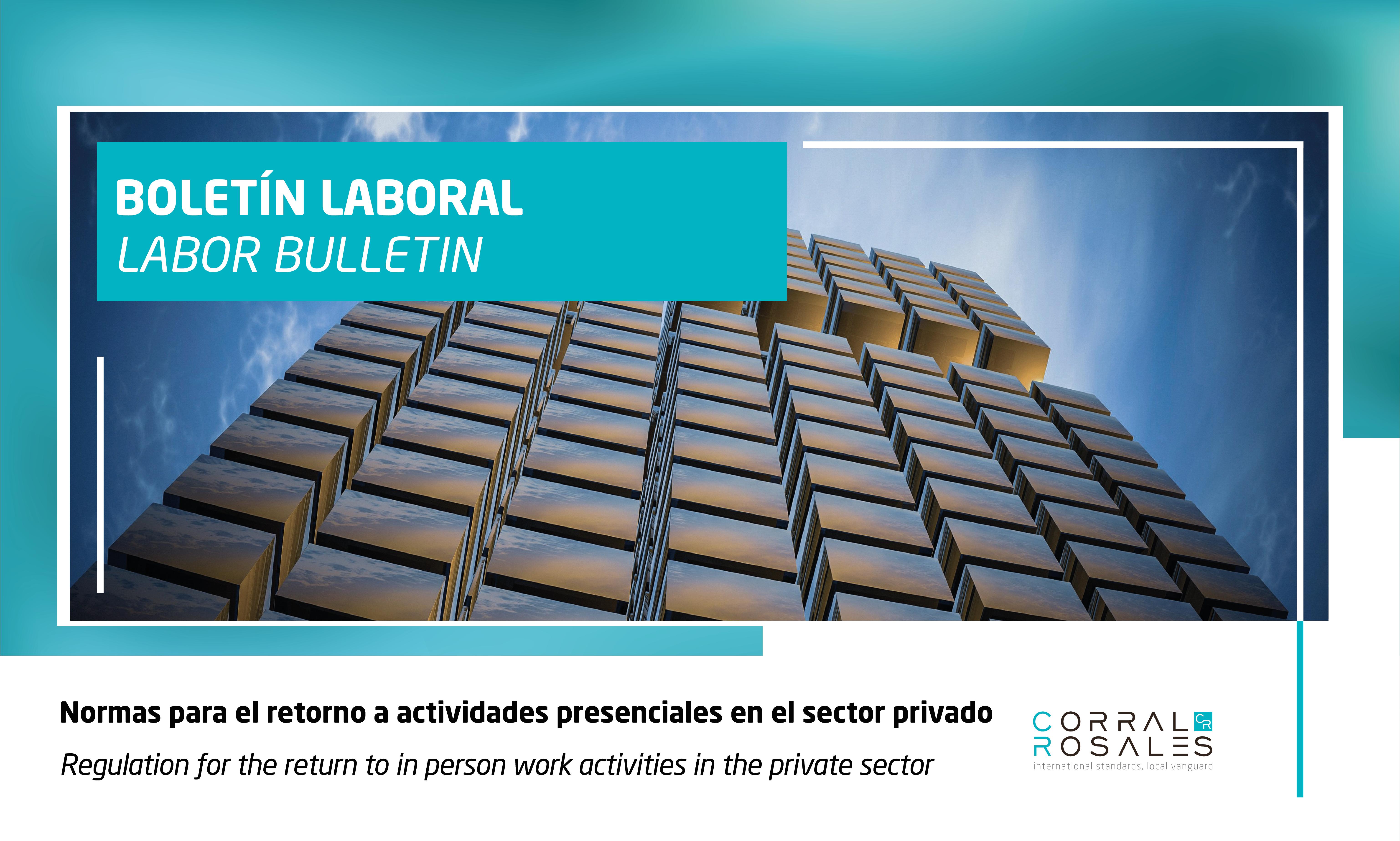 Normas para el retorno a actividades presenciales del sector privado - CorralRosales - Abogados en Ecuador