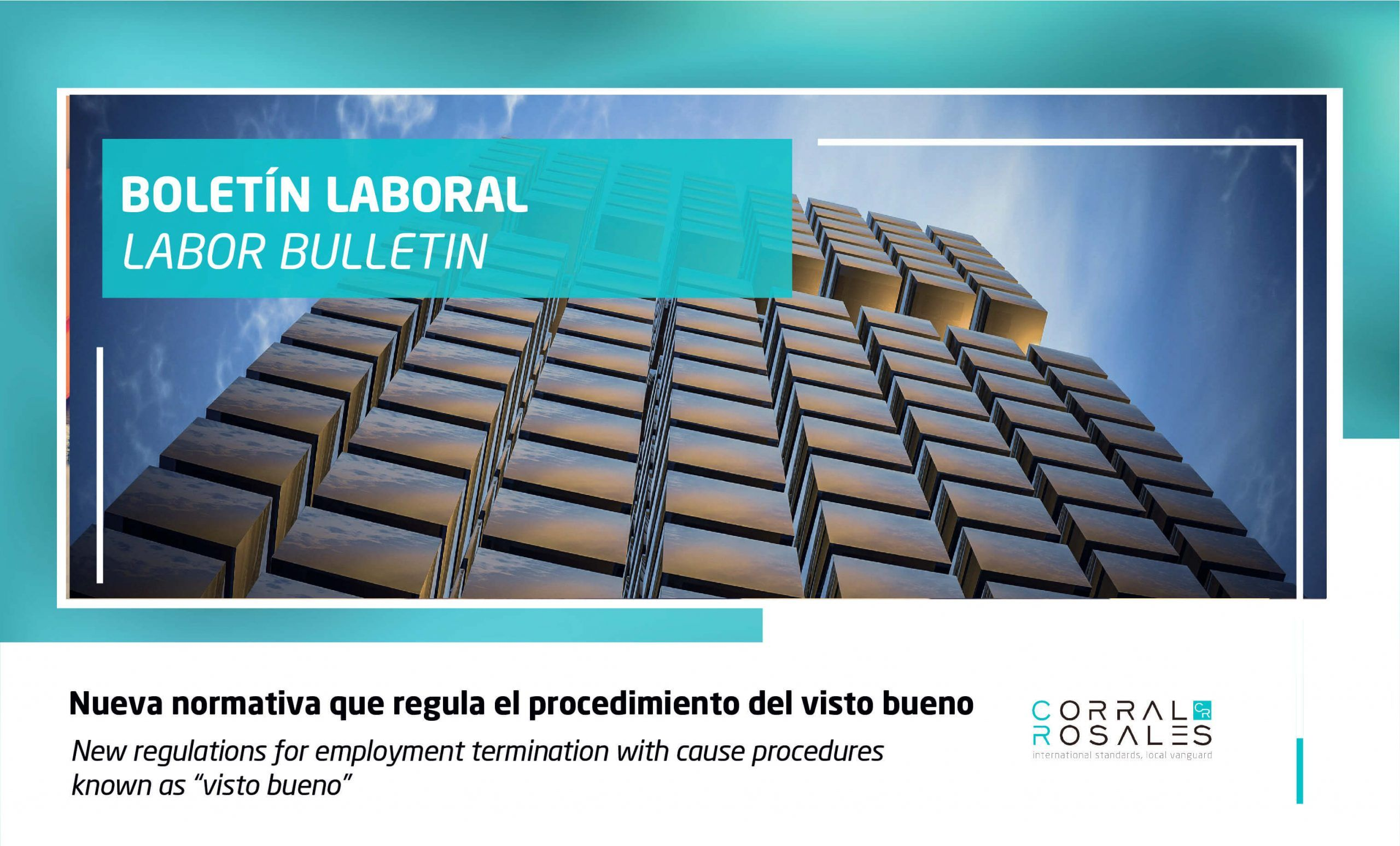 """New regulations for employment termination with cause procedures known as """"visto bueno"""" - CorralRosales - Lawyers Ecuador - Latam"""