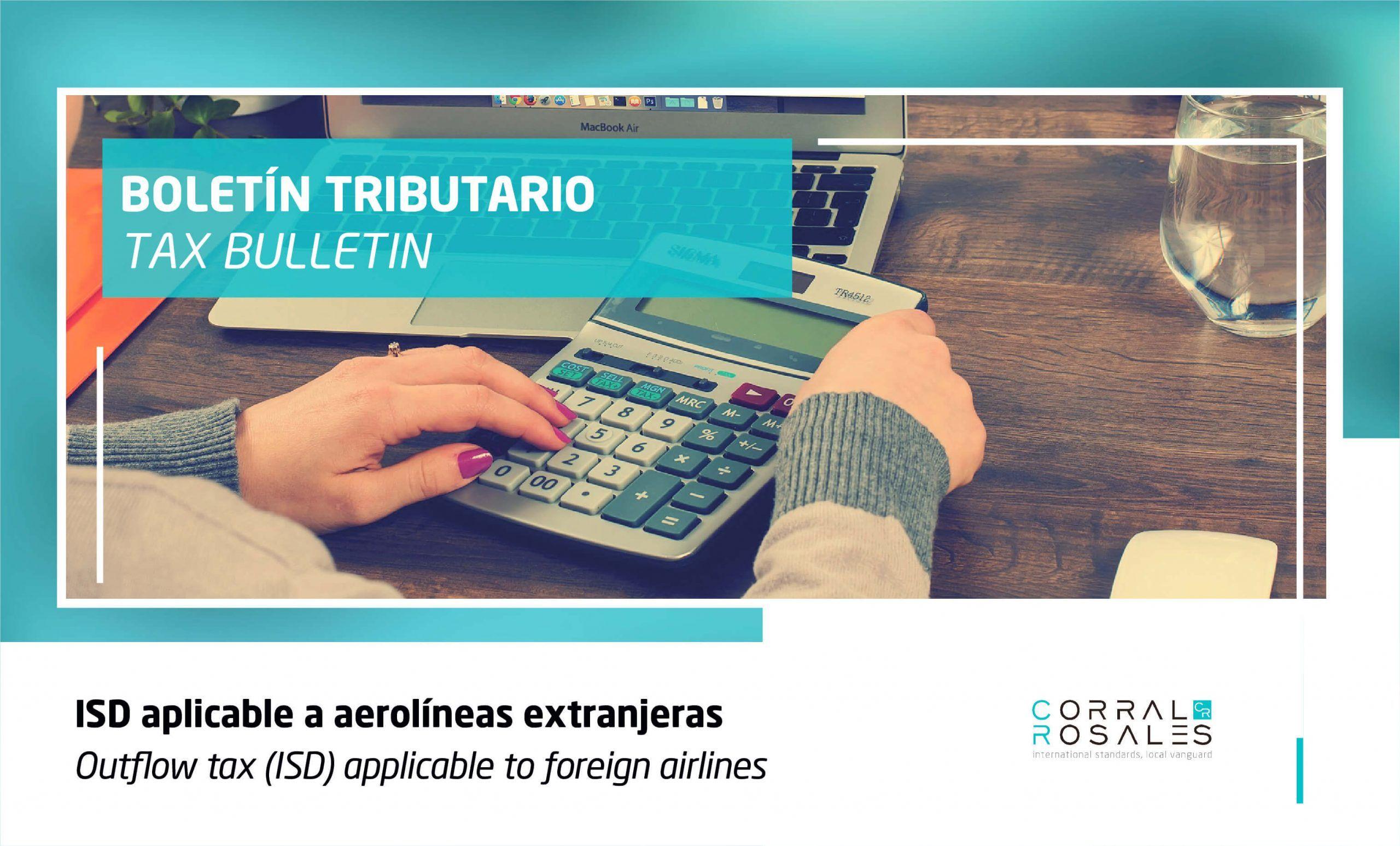 ISD aplicable a aerolíneas extranjeras - CorralRosales - Latam - Abogados Ecuador